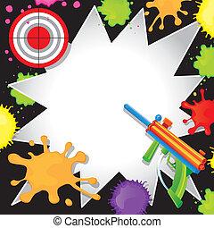 Paintball Birthday Invitation - Super fun Paintball Birthday...