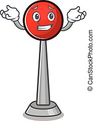 Super Funny Grinning antenna mascot cartoon style