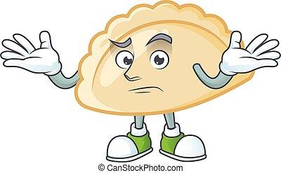 Super Funny Grinning pierogi mascot cartoon style
