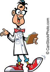 Super Genius - Happy Laboratory Professor Scientist With...