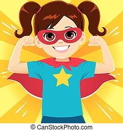 super, girl, héros