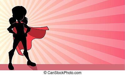 Super Girl Ray Light Silhouette - Illustration of a super ...