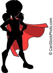 Super Girl Silhouette