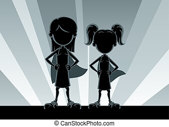 Super Girls Silhouettes