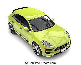 Super green modern 4 wheel drive SUV