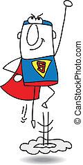 super héroe, acción