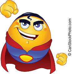 super héroe, emoticon