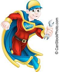 super hős, szerelő