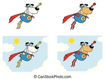 super held, hund, sammlung