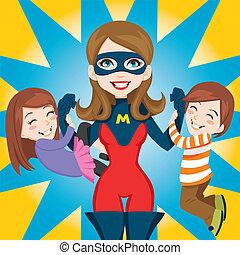 super helte, mor
