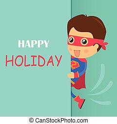 Super Hero Birthday Card Invitation Illustration vector