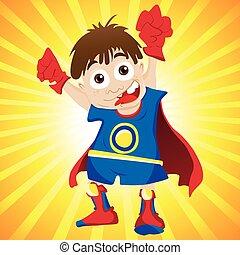 Super hero Boy. Editable Vector Illustration