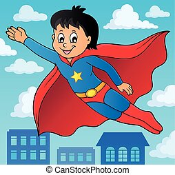 Super hero boy theme image 2