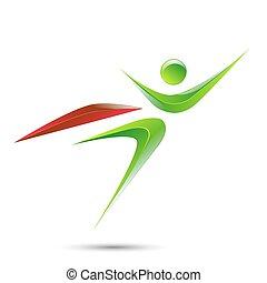 Super hero business man flying logo