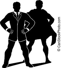 Super Hero Businessman Silhouette