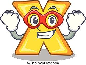Super hero cartoon multiply of a delete sign