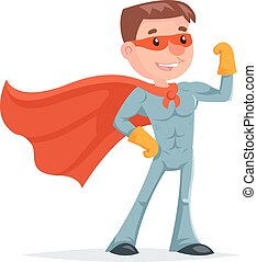 Super Hero Character Icon Retro Cartoon Design Vector Illustration