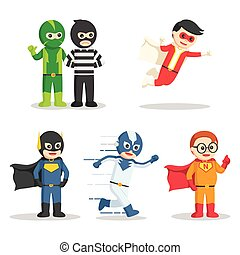 super hero character set
