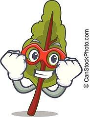 Super hero chard character cartoon style