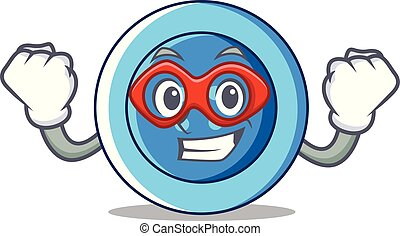 Super hero clothing button character cartoon