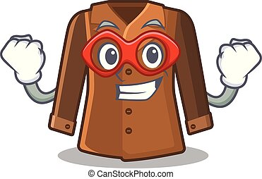 Super hero coat isolated with in the mascot