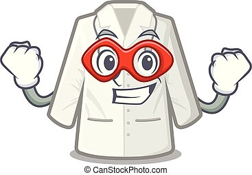 Super hero doctor coat isolated in the character