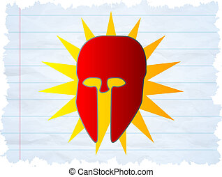Super Hero - Illustration of a Cool Superhero mask