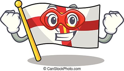 Super hero flag guernsey with the cartoon shape vector illustration