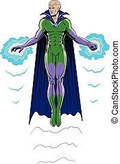Super Hero Flying in Full Color