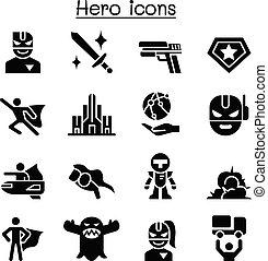 Super Hero icon set