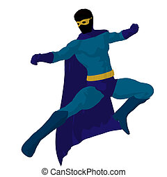 Super Hero Illustration Silhouette - Super hero silhouette...