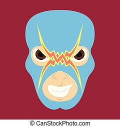 Super hero in mask . Icon in flat style