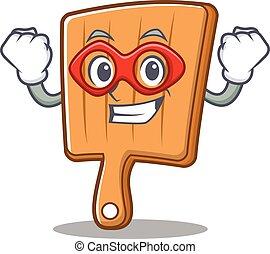Super hero kitchen board character cartoon