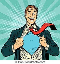 Super hero male businessman