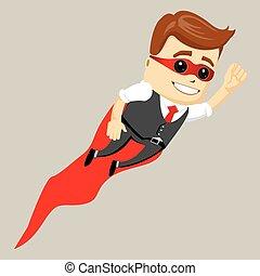 Super hero male businessman, vector illustration.