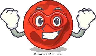 Super hero mars planet character cartoon