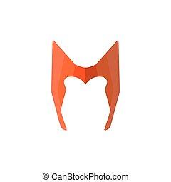 Super hero mask in flat style. Character cartoon superhero. Vector illustration