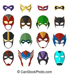 Super hero masks set