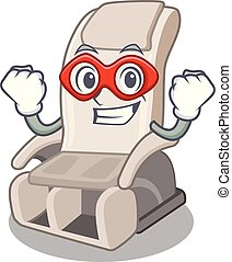 Super hero massage chair in the mascot shape