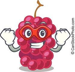 Super hero mulberry in the character fruit basket vector...