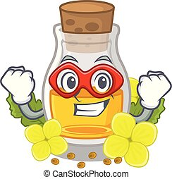 Super hero mustard oil isolated with the character vector ...