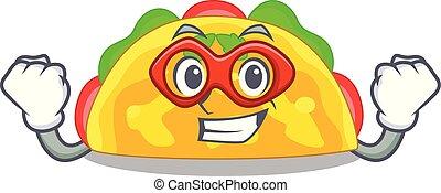 Super hero omelatte is fried on character teflon vector ...