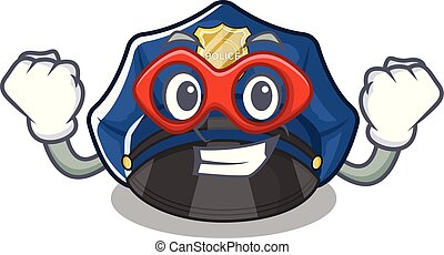 Super hero police hat in the character shape