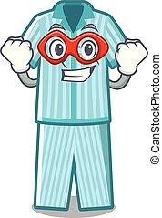 Super hero pyjamas in the a mascot shape