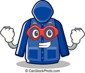 Super hero raincoat isolated with in the mascot