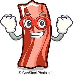 Super hero ribs character cartoon style vector illustration