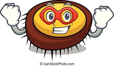 Super hero sea urchin character cartoon