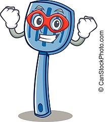 Super hero spatula character cartoon style