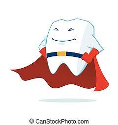 Super Hero Tooth Mascot