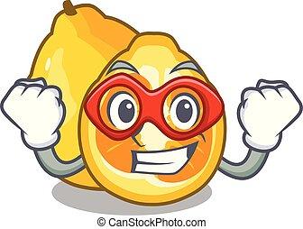 Super hero ugli in the mascot fruit basket illustration...
